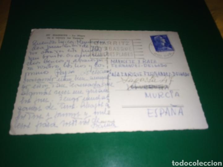 Postales: Antigua postal de Biarritz. Años 60 - Foto 2 - 194236743