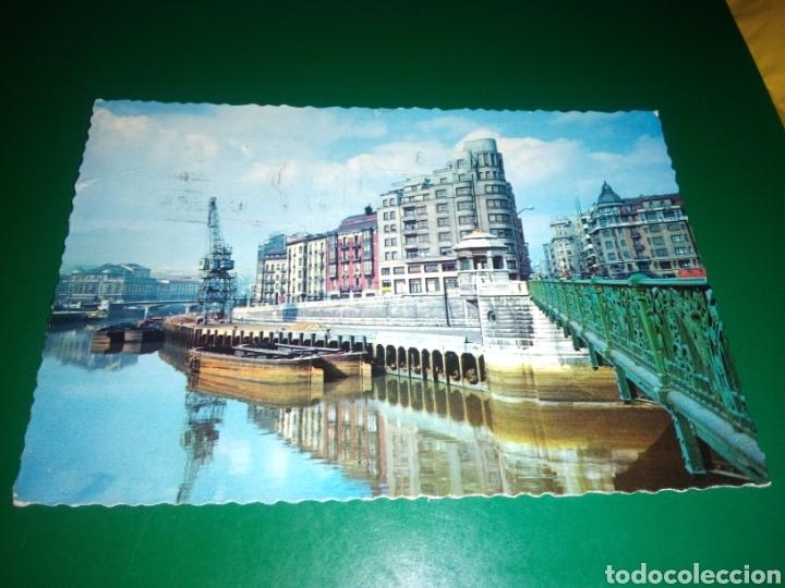 ANTIGUA POSTAL DE BILBAO. MUELLE DE RIPA. AÑOS 60 (Postales - España - País Vasco Moderna (desde 1940))