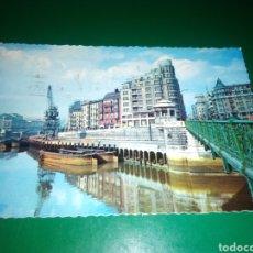 Postales: ANTIGUA POSTAL DE BILBAO. MUELLE DE RIPA. AÑOS 60. Lote 194237366