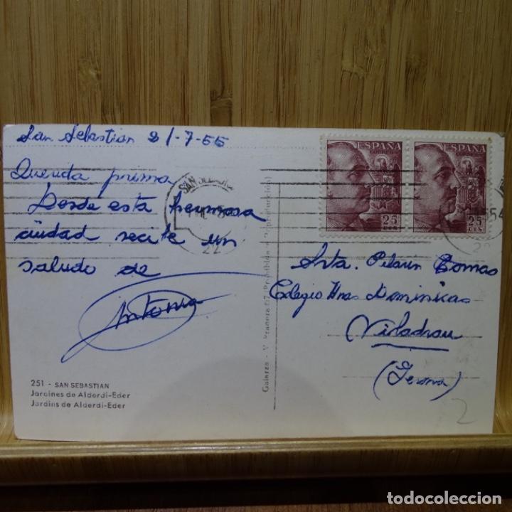 Postales: Postal de San Sebastián.dardines de alderdi-eder.galarza.m. Pradera.251 - Foto 2 - 194292620