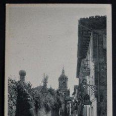 Postales: FUENTERRABIA, LA CALLE DEL CAMPANARIO, ANTIGUA POSTAL SIN CIRCULAR. Lote 194493575