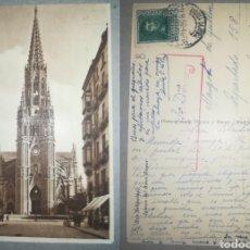 Postales: ESPAÑA TARJETA POSTAL SAN SEBASTIÁN (GUIPÚZCOA) CENSURA MILITAR 1938 DESTINO PORTUGAL. Lote 194519713