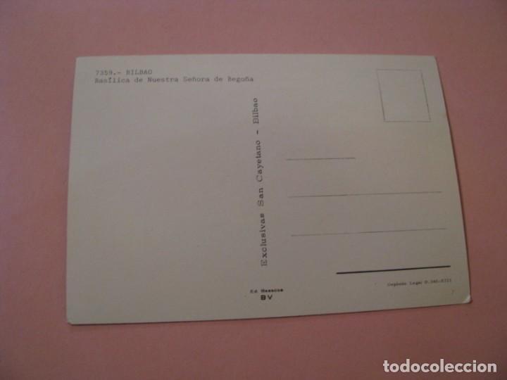 Postales: BILBAO. BASÍLICA DE NUESTRA SEÑORA DE BEGOÑA. EXCLUSIVAS SAN CAYETANO. SIN CIRCULAR. - Foto 2 - 194526615