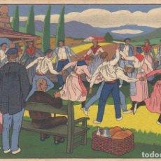 Postales: POSTALES VASCAS Nº 3. DIBUJOS DE JOSÉ ARRUE. ED,LABORDE Y LABAYEN.TOLOSA.SIN CIRCULAR.. Lote 194625565
