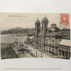 Postales: POSTAL 17 - SAN SEBASTIÁN - EL CASINO, CIRCULADA AÑO 1909 - GALARZA. Lote 194640576