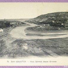 Postales: ANTIGUA POSTAL N°74 DE SAN SEBASTIÁN, VISTA GENERAL DESDE ERRONDO. EDITORIAL MAYOR HERMANOS. Lote 194648070