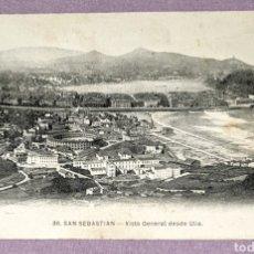 Postales: ANTIGUA POSTAL N°38 DE SAN SEBASTIÁN, VISTA GENERAL DESDE UTIA. EDITORIAL MAYOR HERMANOS. Lote 194648078