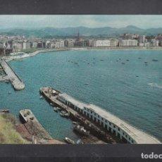 Postales: SAN SEBASTIÁN. PUERTO Y BAHÍA. Lote 194718752