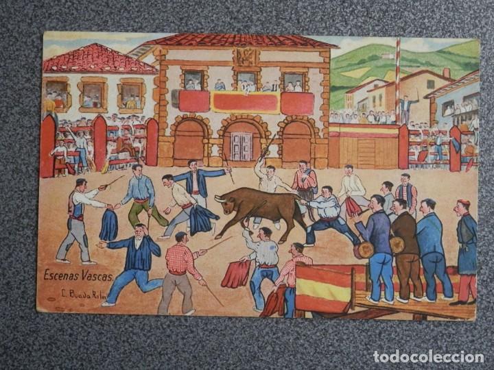 ESCENAS VASCAS ILUSTRADOR L BOADA POSTAL ANTIGUA (Postales - España - Pais Vasco Antigua (hasta 1939))