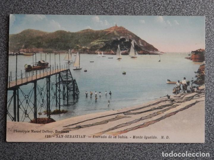 Postales: SAN SEBASTIÁN BONITO LOTE DE 10 POSTALES ANTIGUAS M. D. - Foto 3 - 194904166