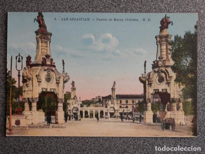 Postales: SAN SEBASTIÁN BONITO LOTE DE 10 POSTALES ANTIGUAS M. D. - Foto 5 - 194904166