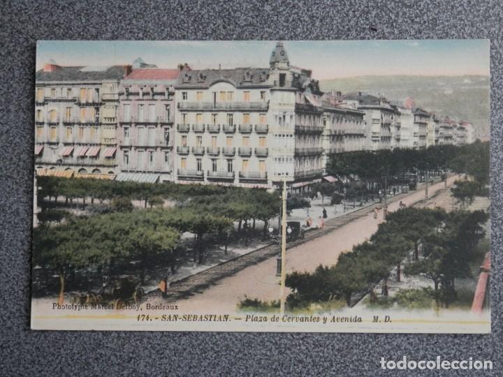 Postales: SAN SEBASTIÁN BONITO LOTE DE 10 POSTALES ANTIGUAS M. D. - Foto 7 - 194904166