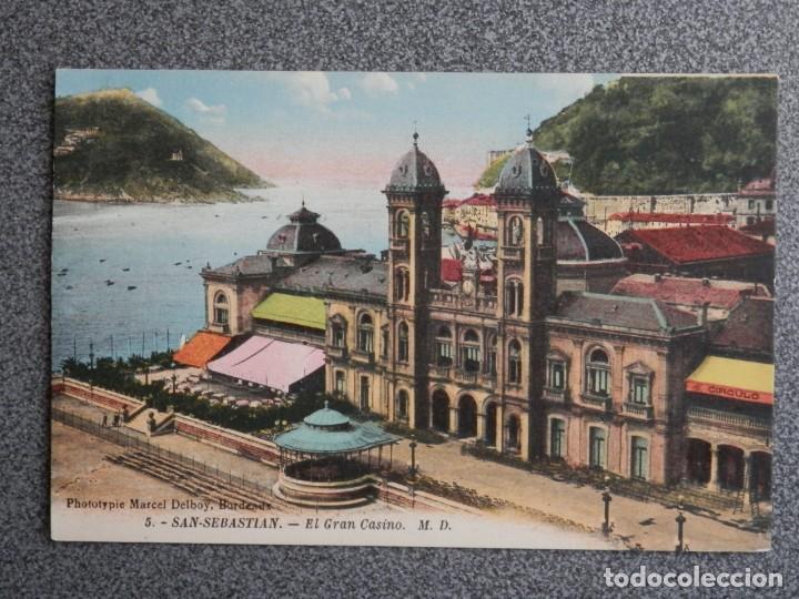 Postales: SAN SEBASTIÁN BONITO LOTE DE 10 POSTALES ANTIGUAS M. D. - Foto 8 - 194904166