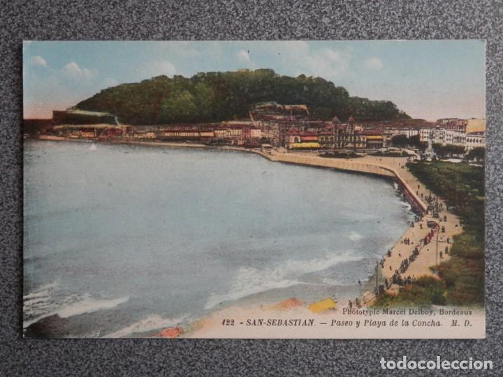 Postales: SAN SEBASTIÁN BONITO LOTE DE 10 POSTALES ANTIGUAS M. D. - Foto 9 - 194904166