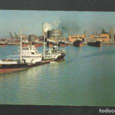 Postales: POSTAL CIRCULADA - SESTAO 307 - MUELLE DE ALTOS HORNOS DE VIZCAYA - BILBAO - EDITA VISTABELLA. Lote 194929101