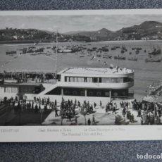 Postales: SAN SEBASTIÁN CLUB NÁUTICO Y BAHÍA POSTAL FOTOGRÁFICA ANTIGUA. Lote 194947322
