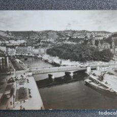 Postales: BILBAO LA RIA DESDE EL RACACIELOS POSTAL FOTOGRÁFICA ANTIGUA. Lote 194947377