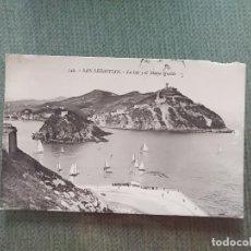 Postales: POSTAL SAN SEBASTIAN LA ISLA Y EL MONTE IGUELDO. Lote 194992433