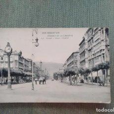 Postales: POSTAL SAN SEBASTIAN AVENIDA DE LA LIBERTAD. Lote 194992645
