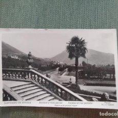 Postales: POSTAL SANTUARIO DE LOYOLA ESCALERA Y VISTA PARCIAL. Lote 194992695