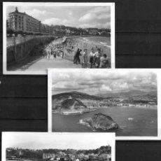 Postales: SEIS POSTALES,SAN SEBASTIÁN,BLANCO Y NEGRO,AÑOS 50. Lote 195007531
