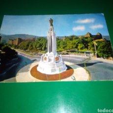 Postales: ANTIGUA POSTAL DE BILBAO. PLAZA Y MONUMENTO DEL SAGRADO CORAZÓN . AÑOS 60. Lote 195020865