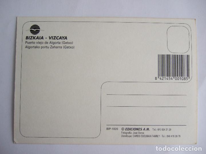 Postales: POSTAL VIZCAYA -PUERTO VIERJO DE ALGORTA - GETXO - EDICIONES AM 1820 - SIN CIRCULAR - Foto 2 - 195034808