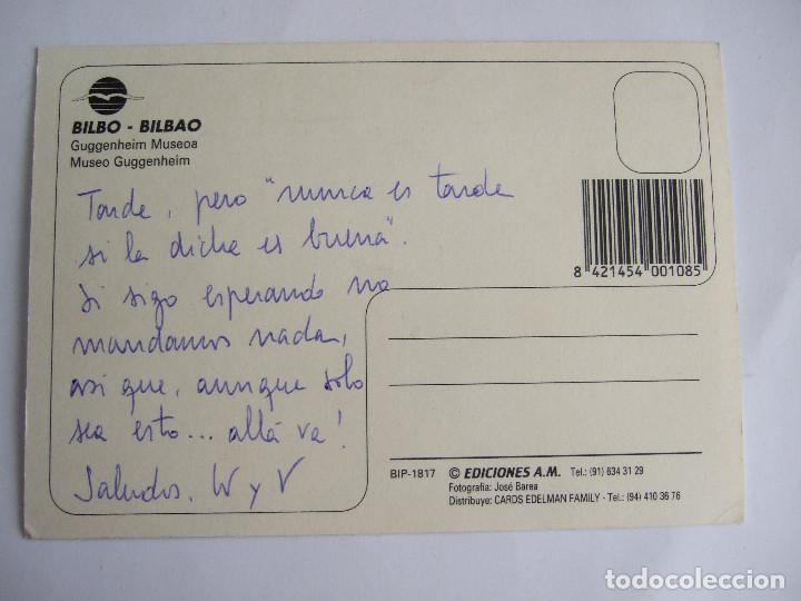 Postales: POSTAL VIZCAYA - BILBAO - MUSEO GUGGENHEIM - EDICIONES AM 1817 - SIN CIRCULAR - Foto 2 - 195035040