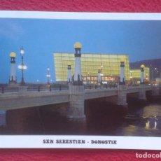 Postales: POSTAL POST CARD DONOSTIA SAN SEBASTIÁN EUSKADI Nº 154 PUENTE DE LA ZURRIOLA Y GRAND KURSAAL MANIPEL. Lote 195066488