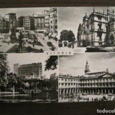 Postales: VITORIA-PLAZA VIRGEN BLANCA-MUSEO PROVINCIAL-PARQUE FLORIDA-PLAZA ESPAÑA-POSTAL ANTIGUA-(68.084). Lote 195137372