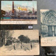 Postales: LOTE DE 3 POSTALES DE LEÓN Y BILBAO DESDE 1904. Lote 195168475