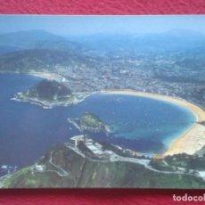 Postales: POSTAL POST CARD Nº 24 SAN SEBASTIÁN VISTA AÉREA AIR VIEW EUSKADI DONOSTIA LA CONCHA...DE MANIPEL.... Lote 195189030