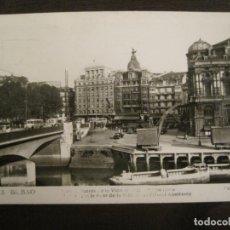Postales: BILBAO-ARENAL-PUENTE DE LA VICTORIA Y HOTEL ALMIRANTE-FOTOGRAFICA ROISIN-603-POSTAL ANTIGUA-(68.131). Lote 195225862