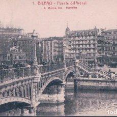 Postales: POSTAL BILBAO - PUENTE DEL ARENAL - ROISIN - CIRCULADA. Lote 195316281