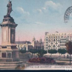 Postales: POSTAL SAN SEBASTIAN - ESTATUA DEL ALMIRANTE OQUENDO - M D - 116 - CIRCULADA. Lote 195319897
