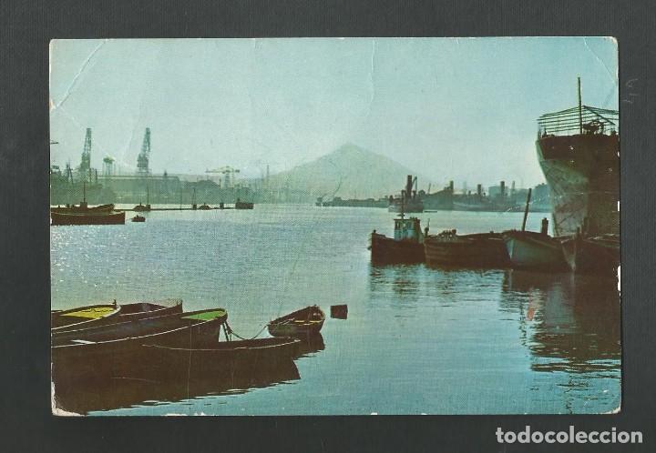 POSTAL CIRCULADA - BILBAO SERIE II Nº9003 - LA RIA EN AXPE - EDITA CAMPAÑA (Postales - España - País Vasco Moderna (desde 1940))