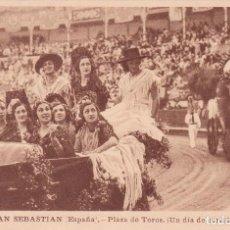 Postales: SAN SEBASTIAN POSTAL PLAZA DE TOROS. Lote 195407435