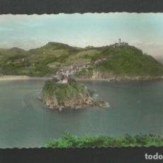 Postales: POSTAL SIN CIRCULAR - SAN SEBASTIAN 2 - ISLA DE SANTA CLARA Y MONTE IGUELDO - EDITA ARTIGOT. Lote 195409268