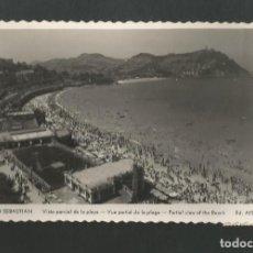 Postales: POSTAL CIRCULADA - SAN SEBASTIAN 250 - VISTA GENERAL DE LA PLAYA - EDITA AISA. Lote 195424992