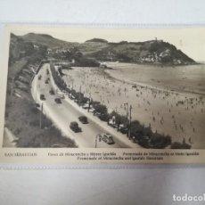 Cartoline: TARJETA POSTAL DE SAN SEBASTIAN, GUIPUZCOA - PASEO DE MIRACONCHA Y MONTE IGUELDO. MANIPEL. Lote 195712961