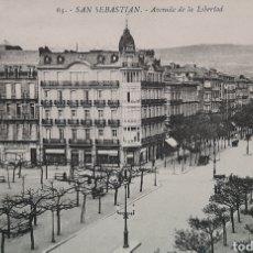Postales: SAN SEBASTIÁN AVENIDA DE LIBERTAD. TARJETA POSTAL.. Lote 195878380