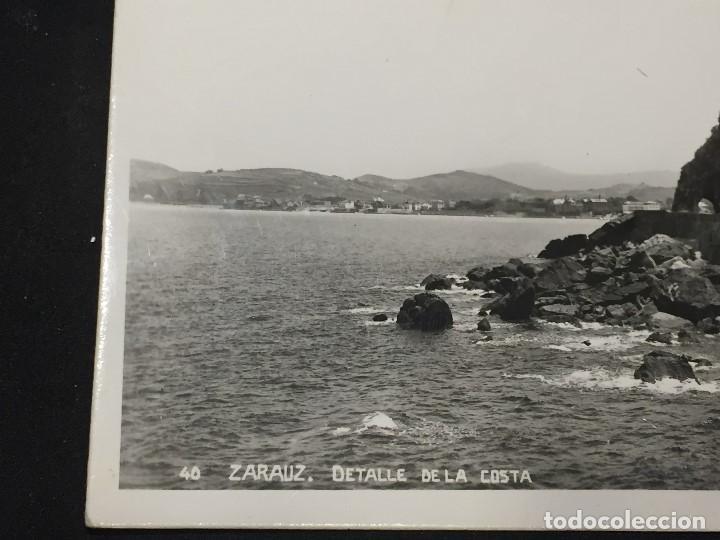 Postales: postal zarauz detalle de la costa no inscrita no circulada - Foto 2 - 196492475