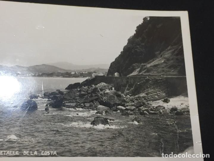 Postales: postal zarauz detalle de la costa no inscrita no circulada - Foto 3 - 196492475