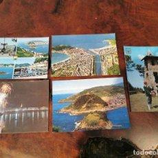 Postales: 5 POSTALES DE SAN SEBASTIAN - MANIPEL, ESCUDO DE ORO, GALARZA. Lote 196511952