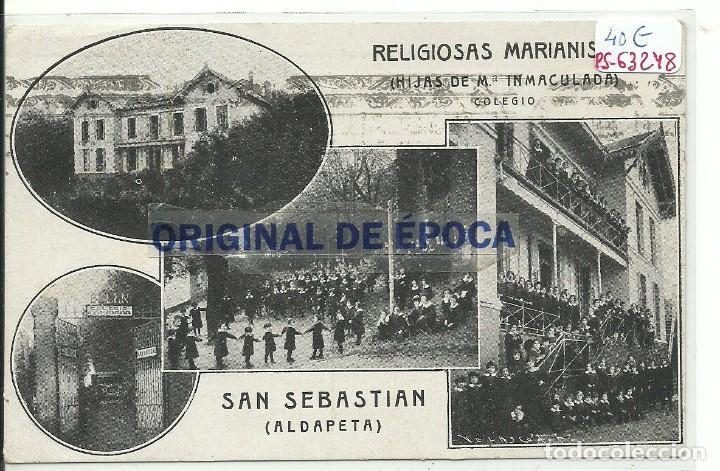 (PS-63248)POSTAL DE SAN SEBASTIAN-RELIGIOSAS MARIANISTAS.COLEGIO HIJAS DE MªINMACULADA (Postales - España - Pais Vasco Antigua (hasta 1939))