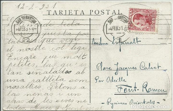 Postales: (PS-63248)POSTAL DE SAN SEBASTIAN-RELIGIOSAS MARIANISTAS.COLEGIO HIJAS DE MªINMACULADA - Foto 2 - 197039666