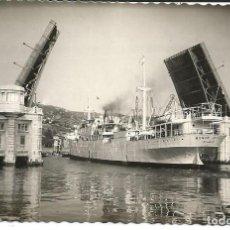 Postales: POSTAL BILBAO - PUENTE DEL GENERALISIMO FRANCO - ED. DANIEL ARBONÉS. Lote 197058751