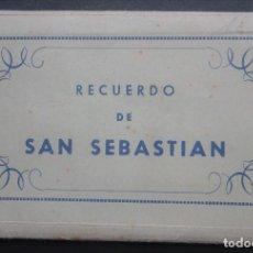 Postales: CARPETA CON 7 POSTALES EN ACORDEÓN DE SAN SEBASTIAN, VER FOTOGRAFÍAS. Lote 197095082