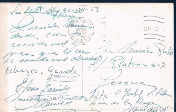 Postales: POSTAL ZARAUZ - BALCON Y CARRETERA DE LA COSTA - FOTO GAR - COCHE DE EPOCA - Foto 2 - 198232367