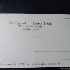Postales: RENTERIA, GUIPÚZCOA, PUBLICITARIA, GALLETAS OLIBET, PRINCIPE BALTASAR, VELAZQUEZ. Lote 198897171